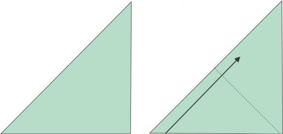 Fold square in quarters