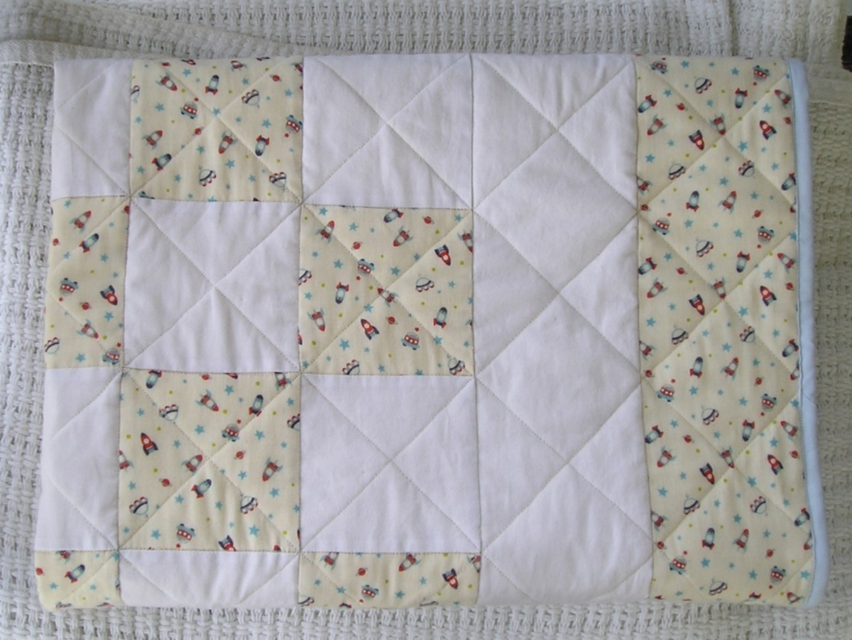 Binding on a baby quilt