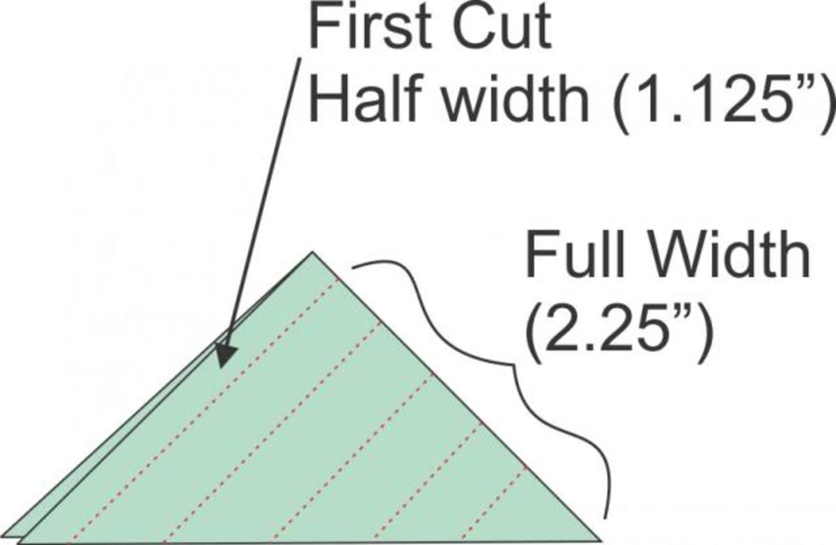 Make first cut along folded edge
