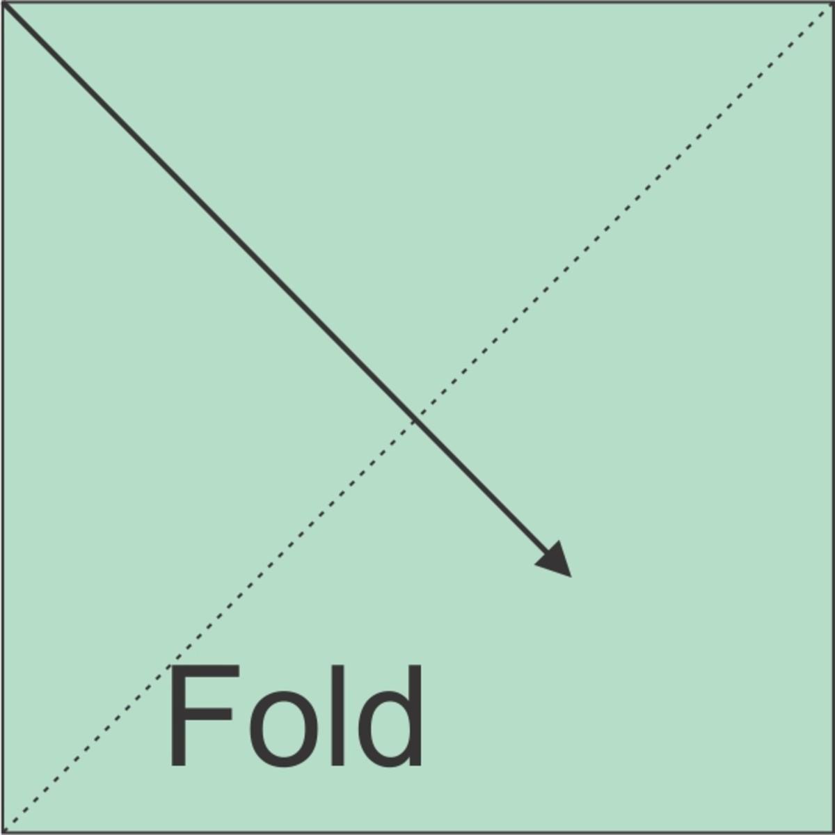Fold square in half