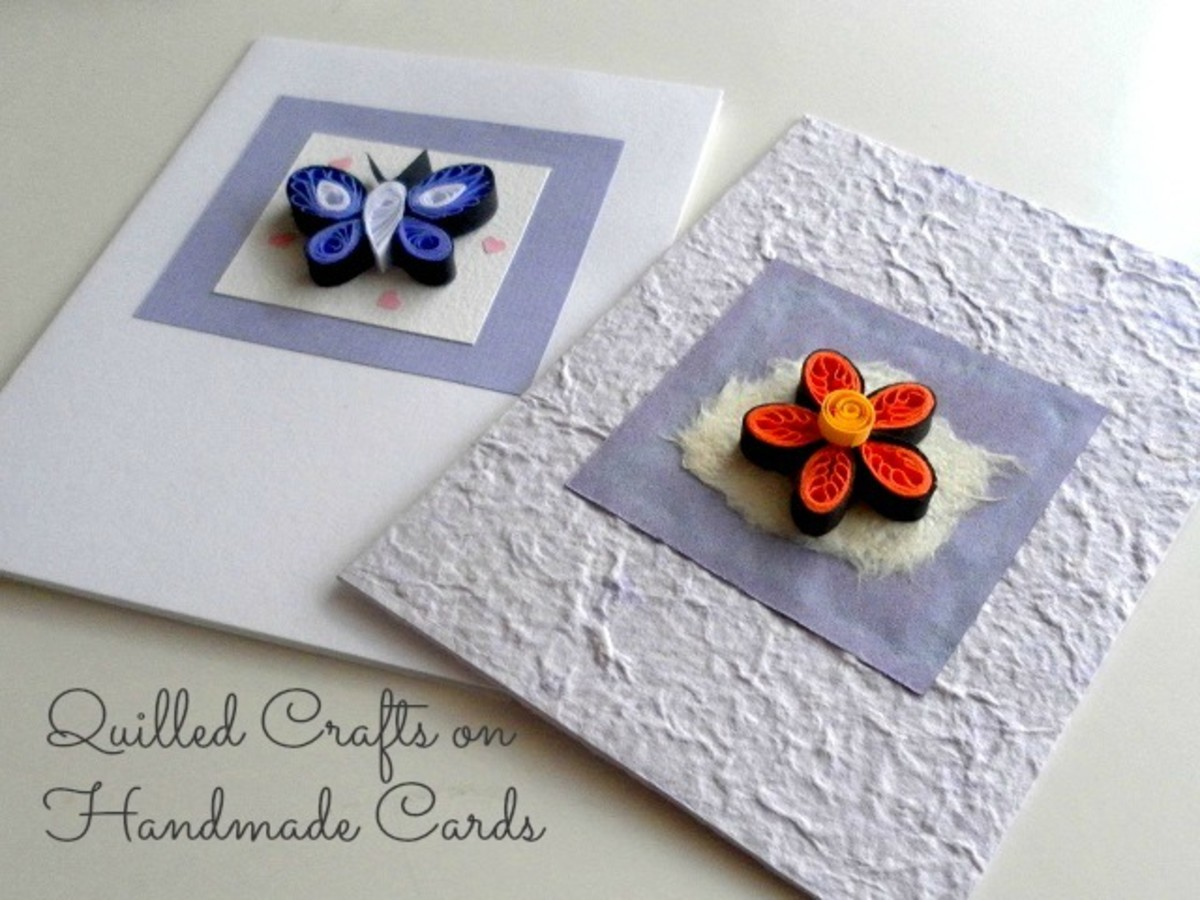 Paper quilled handmade cards.