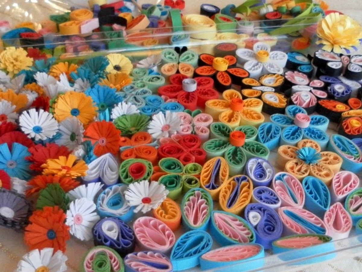 Ready to use paper quilling embellishments.