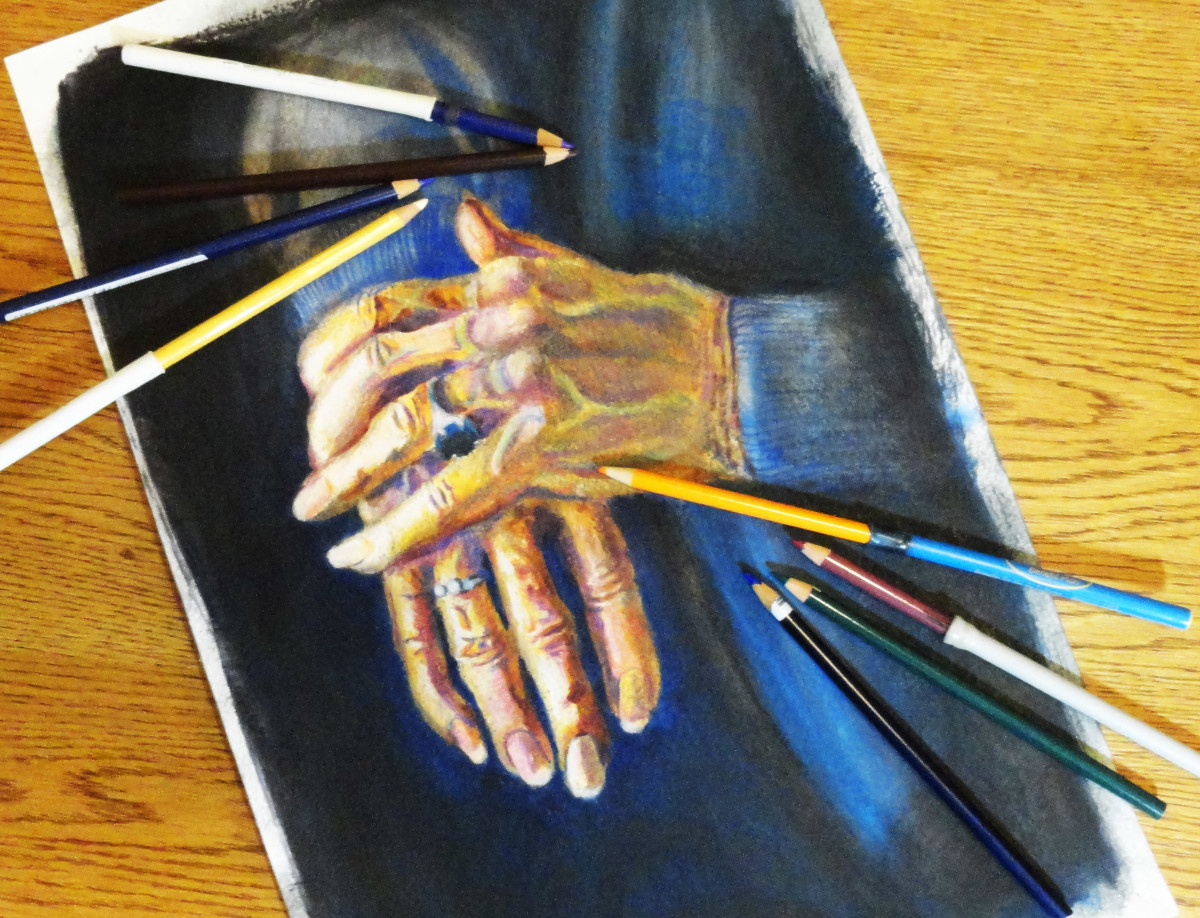 You can use colored pencil to enhance your watercolor with more details.