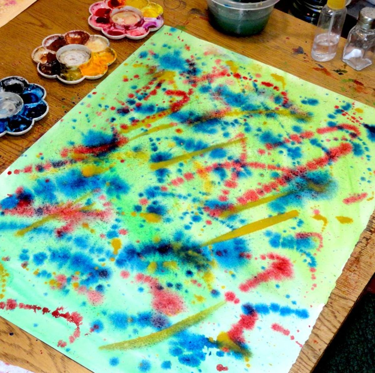 Wet on Wet splatters.