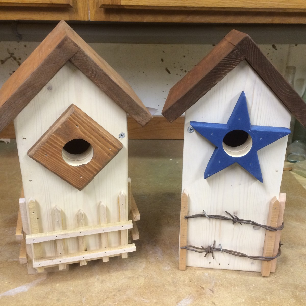 Bluebird houses with style!