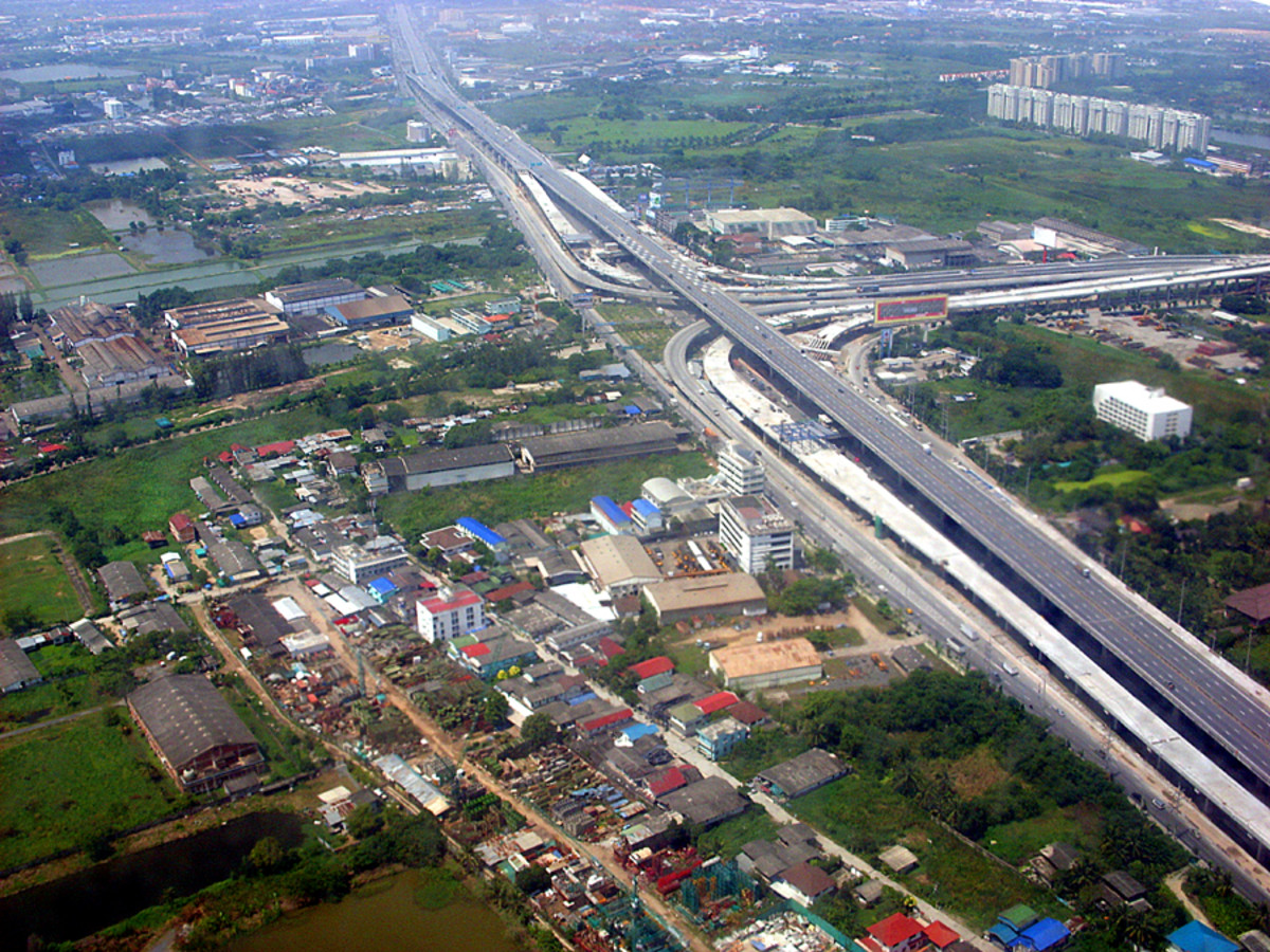 Bangkok low altitude approach
