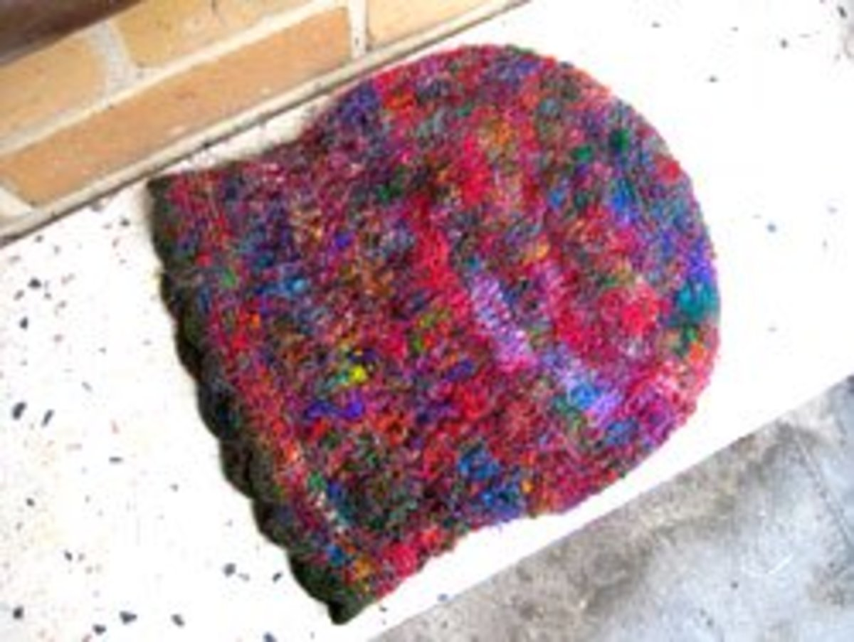 The shape of the hat - it doesn't matter if you crotchet it wider at the top as long as you get it to fit your head at the base.