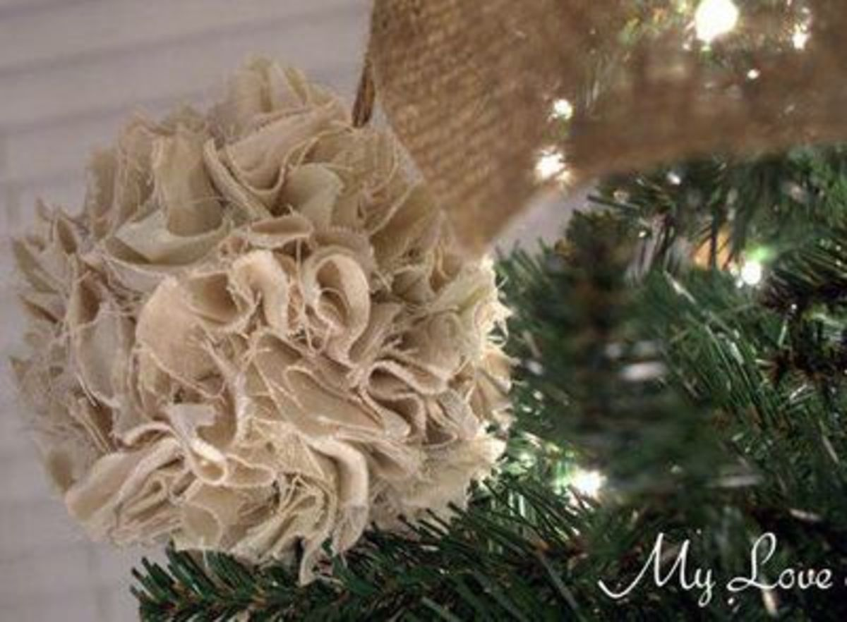 rustic pom pom ornament - Rustic Christmas Ornaments