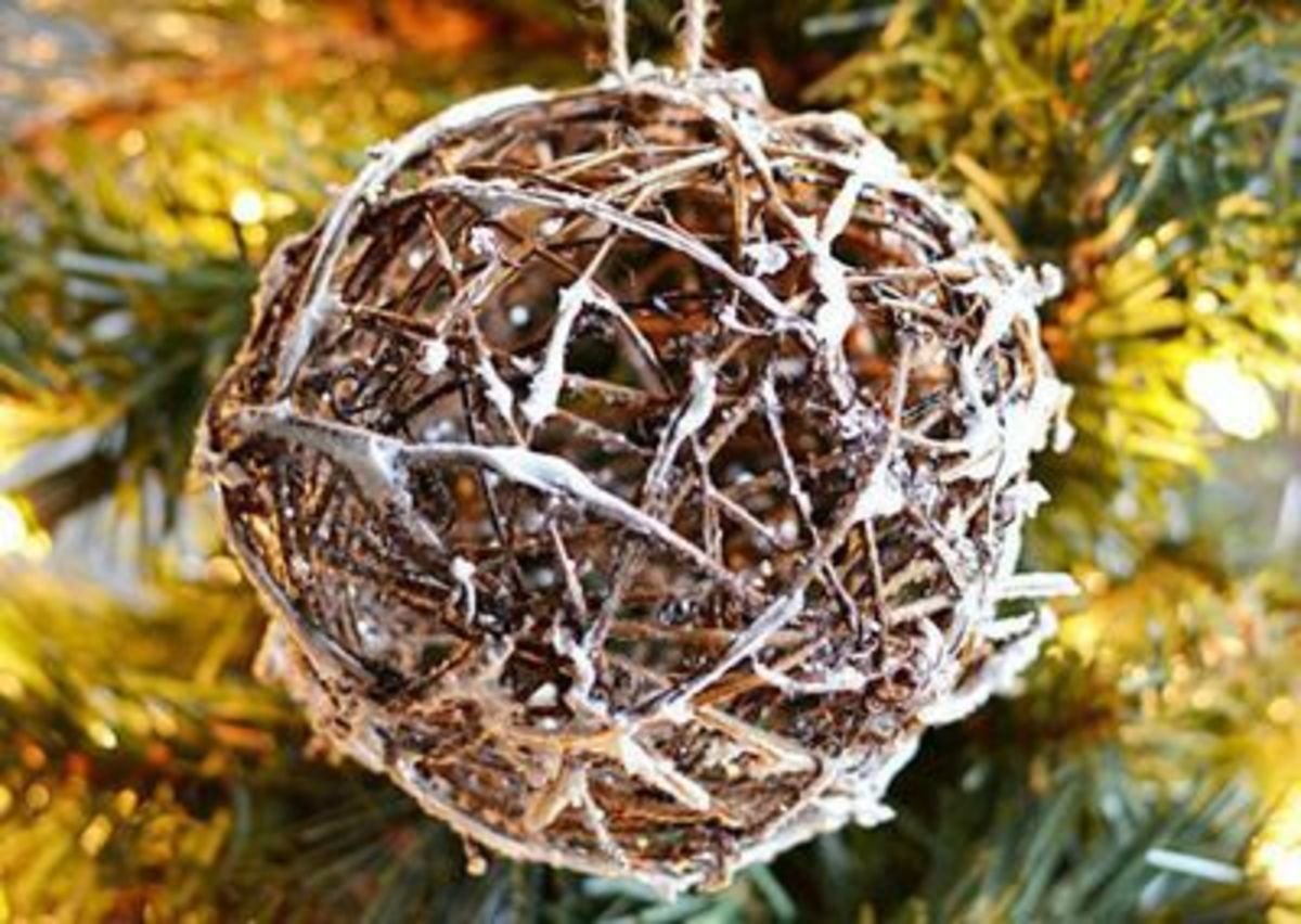 Rustic christmas crafts feltmagnet
