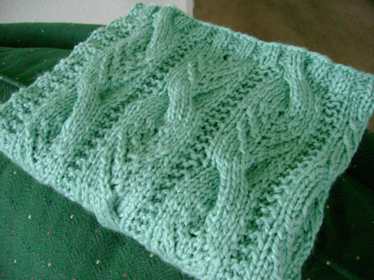 """Free Afghan Knitting Pattern: """"Sweet Cables"""" Baby Blanket ..."""