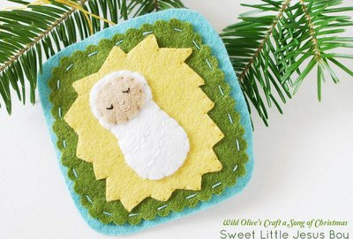 30 Cute Baby Jesus Crafts Feltmagnet