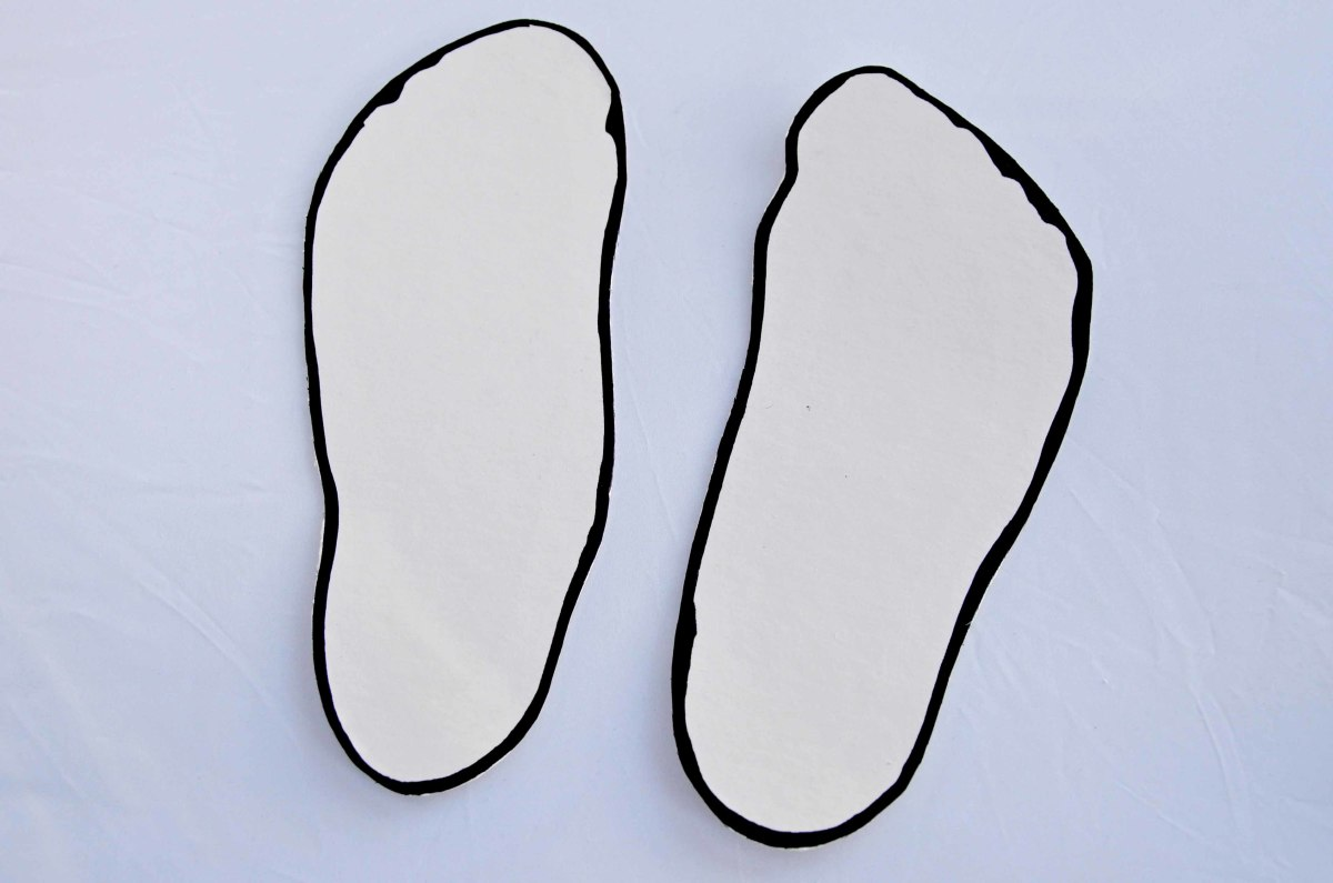 Cut out the two soles.