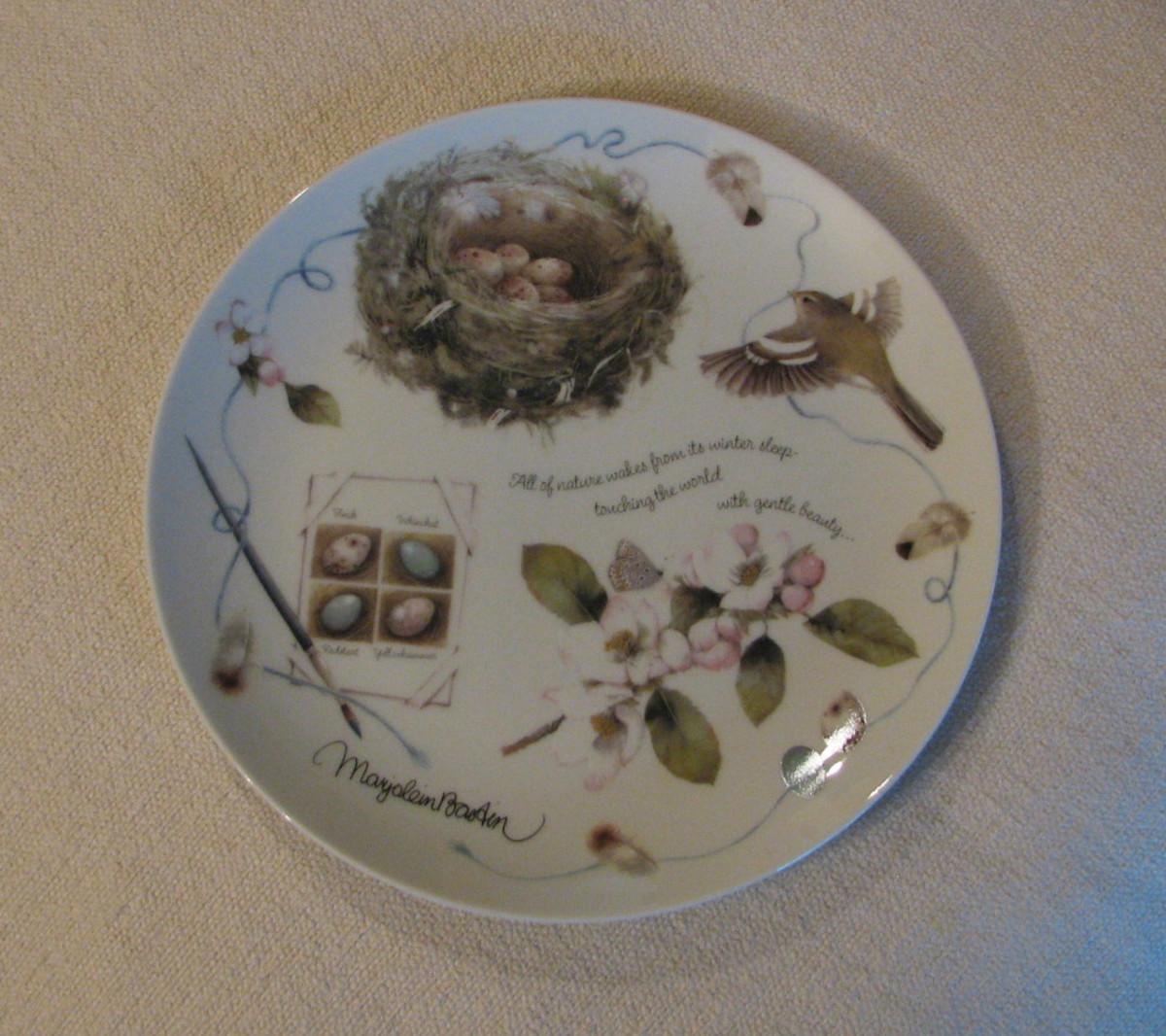 """""""Building a Nest,"""" a Hallmark plate"""