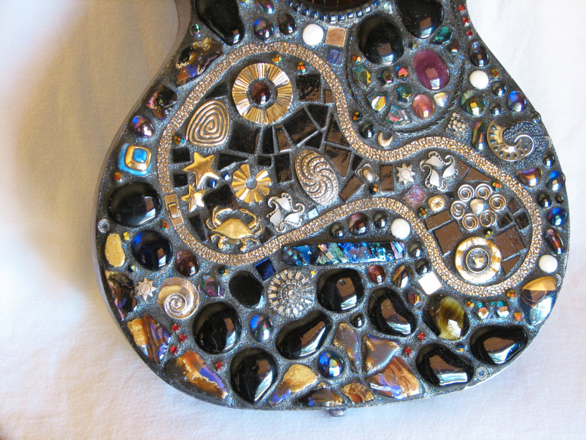 """Across the Universe"" mosaic guitar"