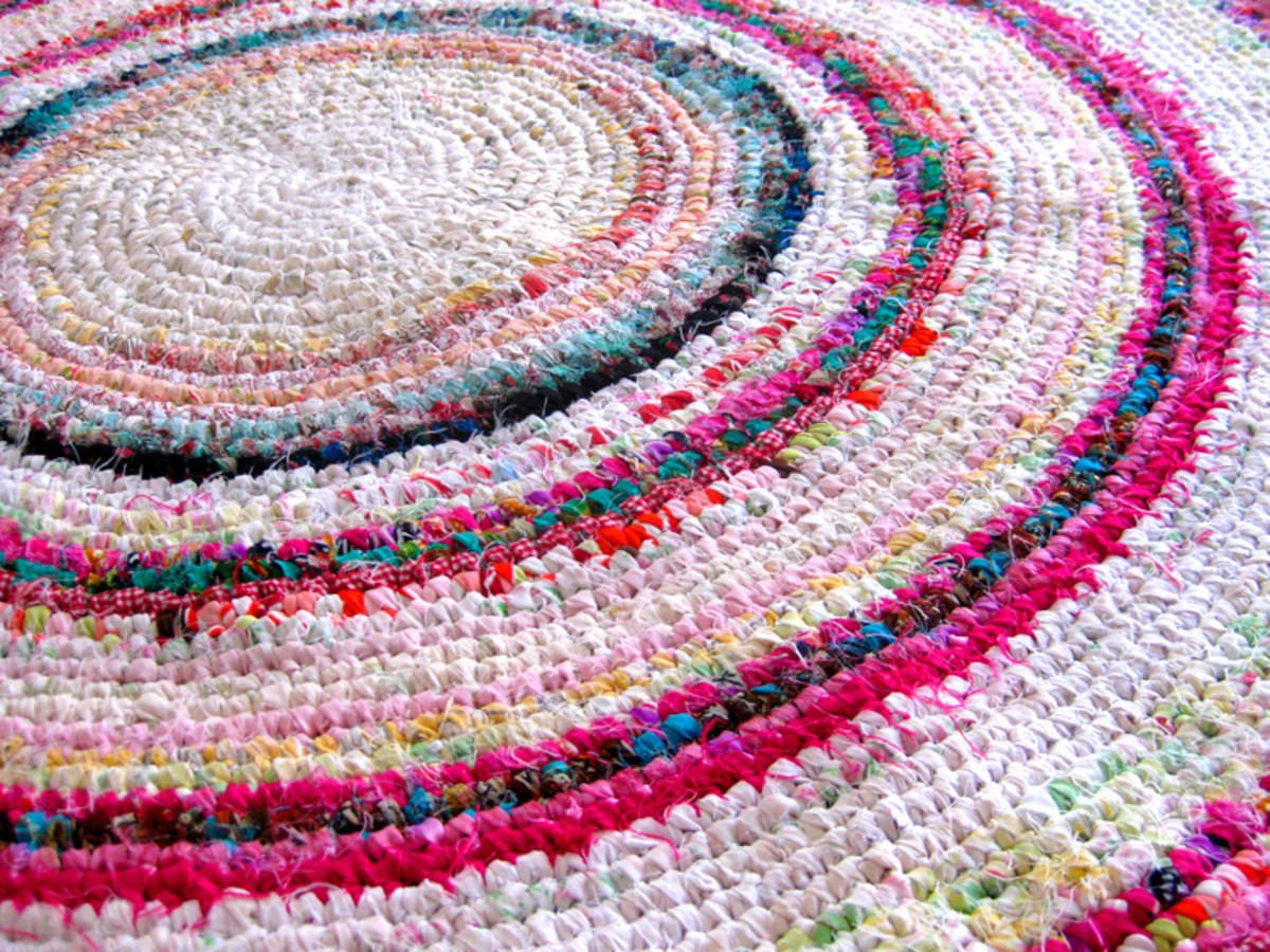 The finished rag rug.