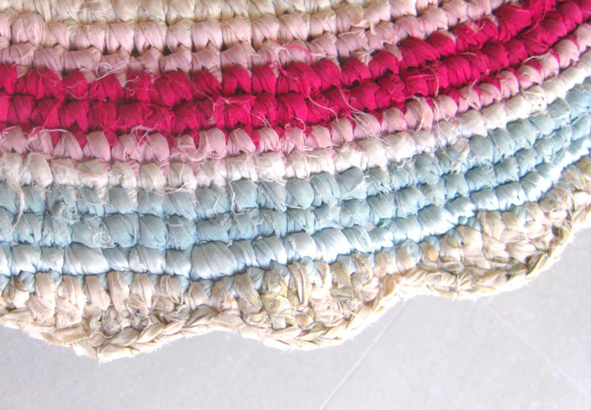 An example of a decorative crochet edge.
