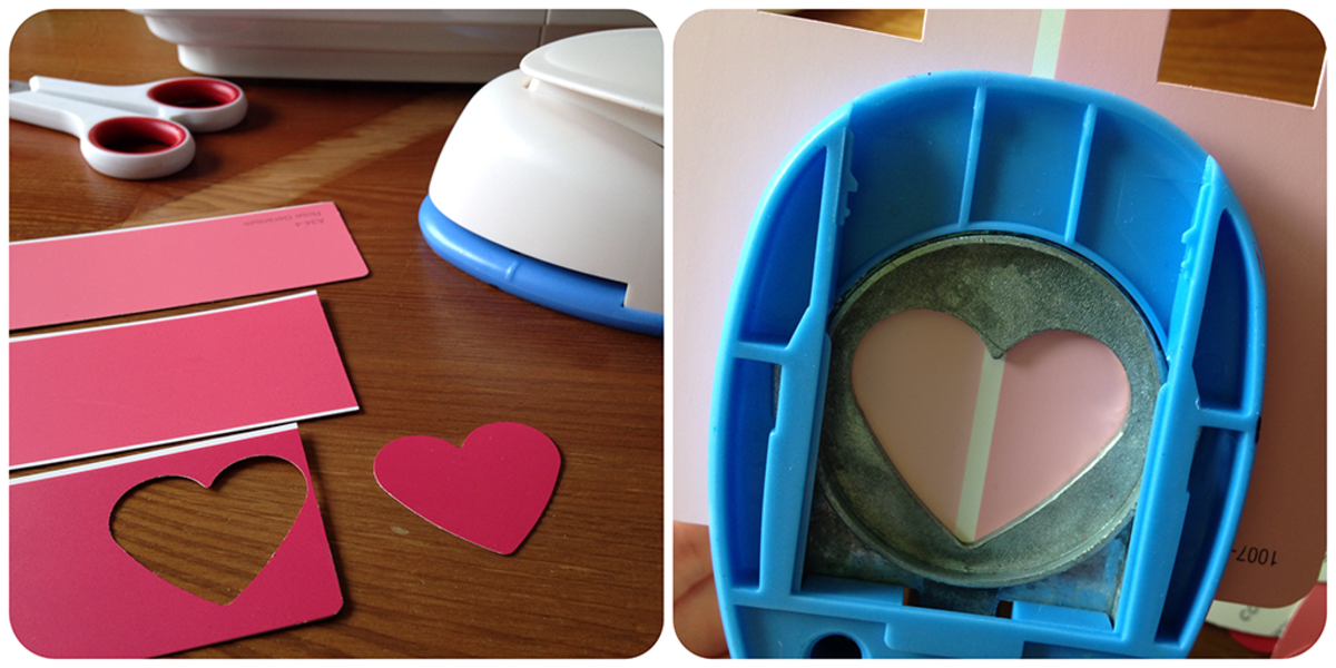 Valentine Crafts - Paint Chip Card Ideas