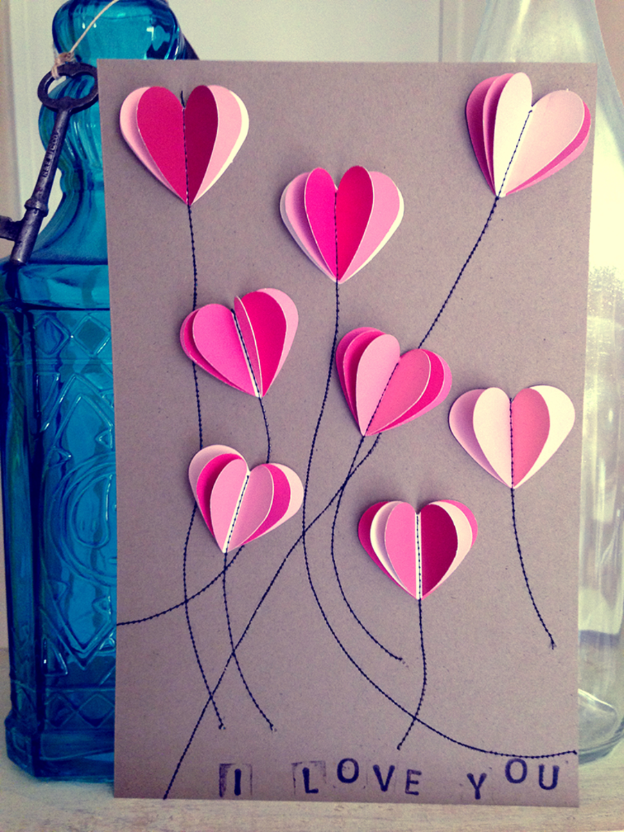 DIY Paint Chip Valentine\'s Day Cards | FeltMagnet