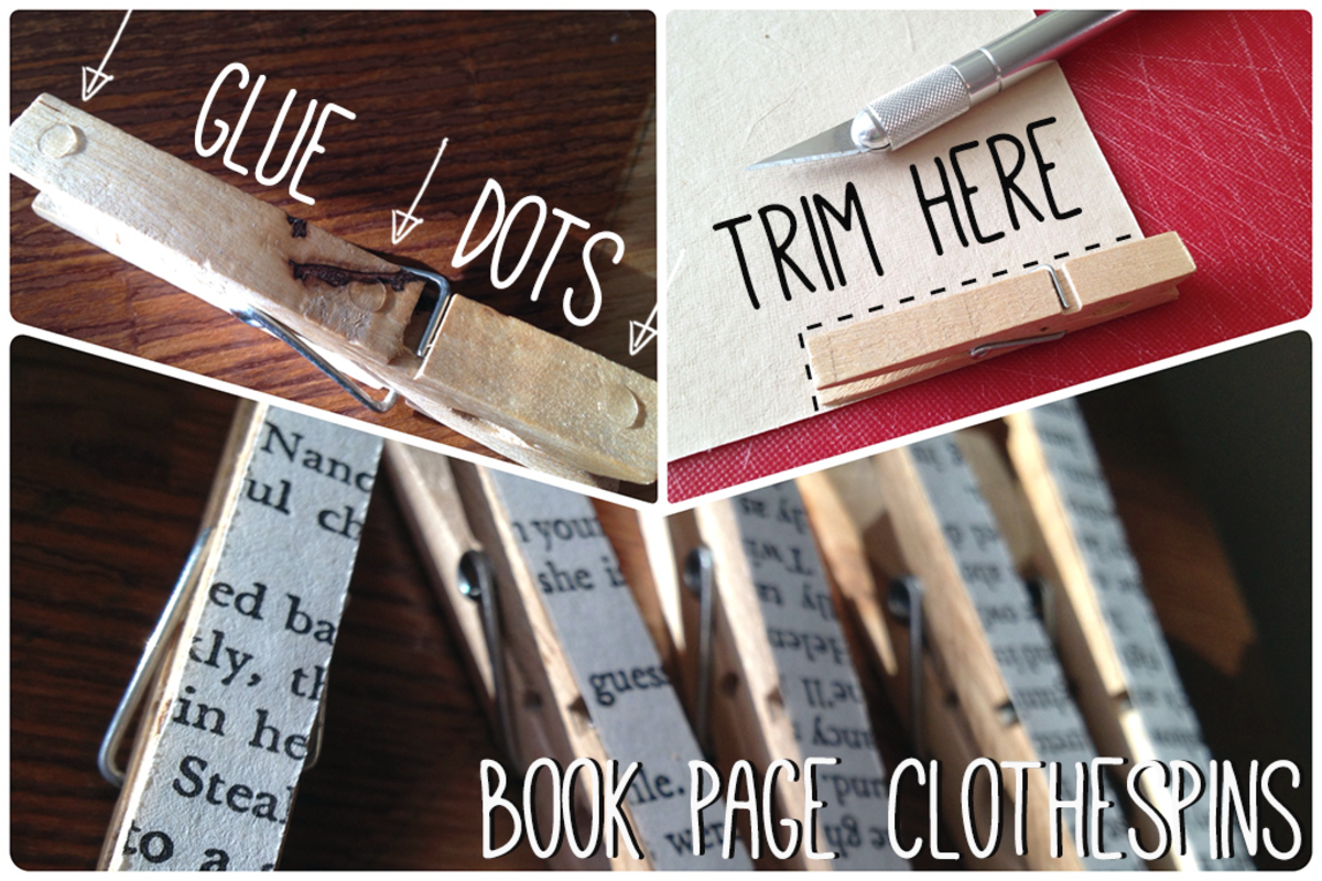 Altered Clothespins for Crafting