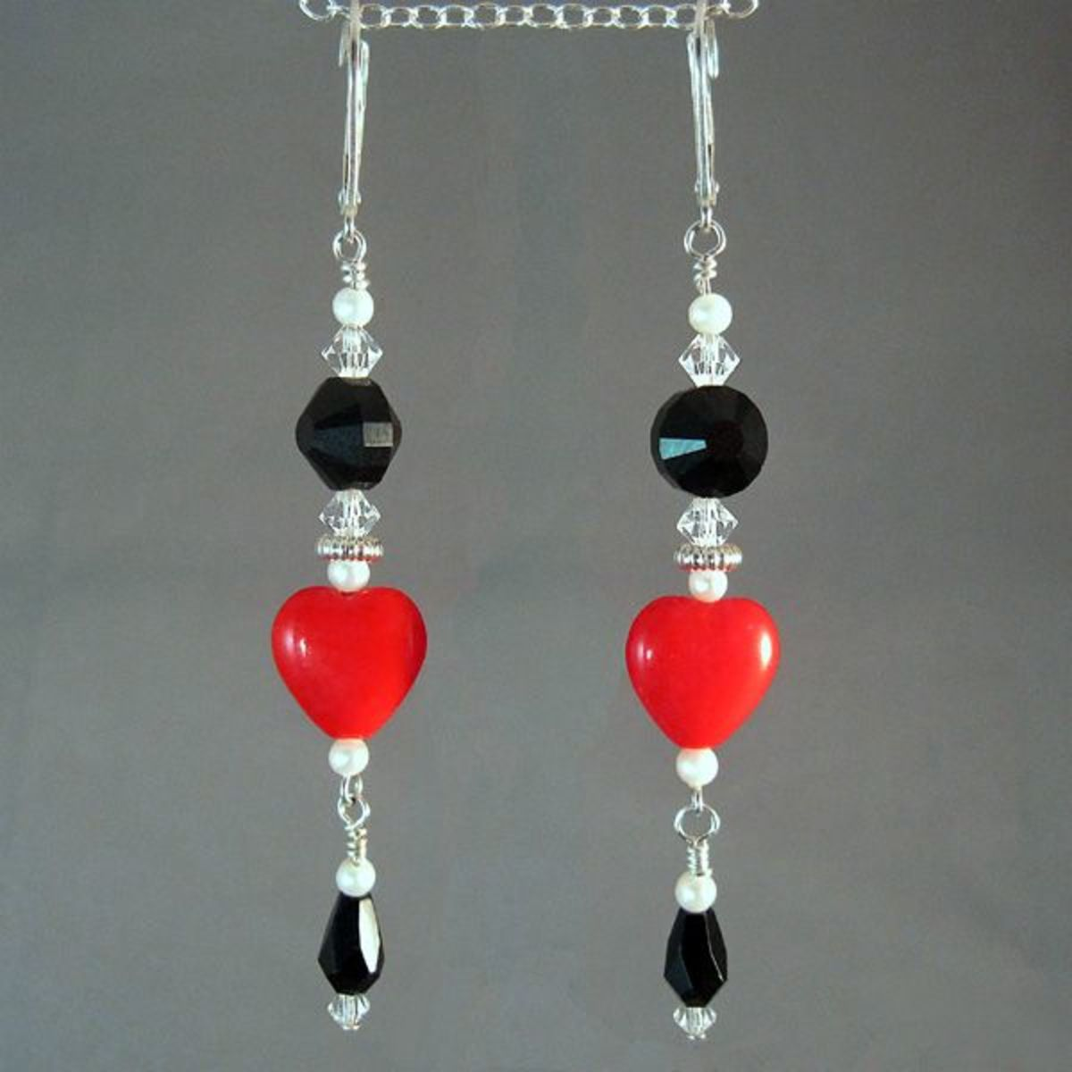 Another view of the finished earrings