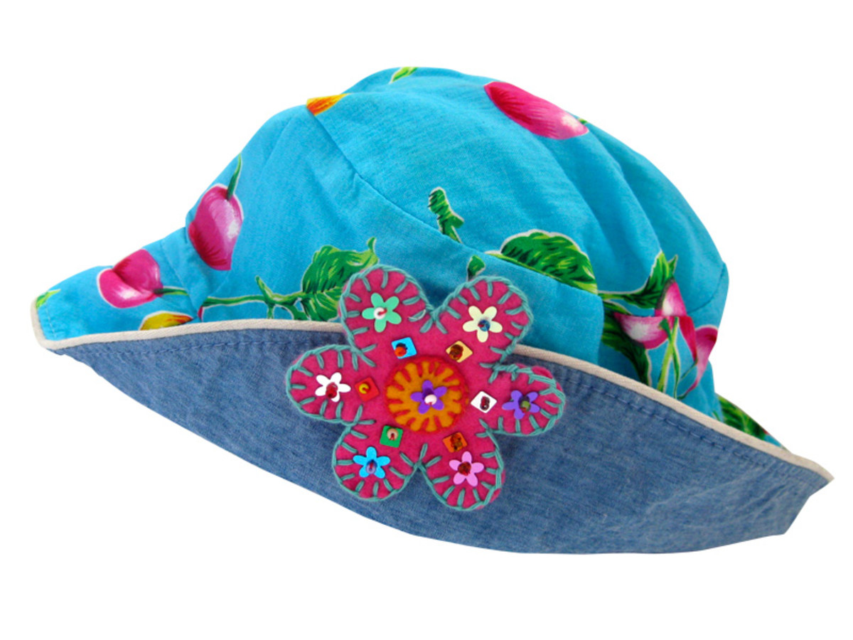 Add a felt flower or two to a beach hat or winter beanie for a bit of decoration.