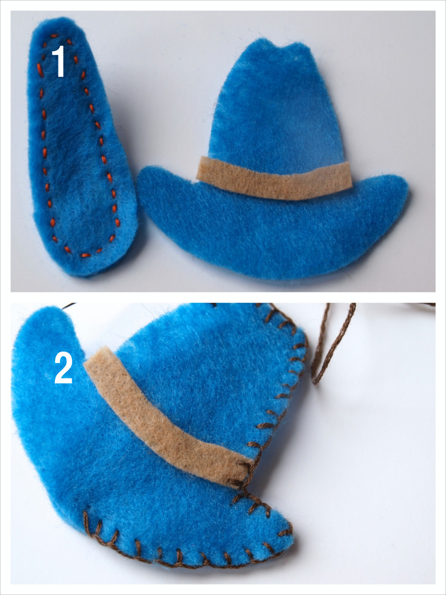 Step 4: Sew the shape to the clip