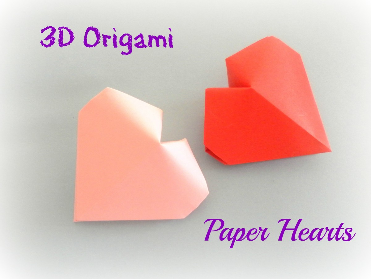 3D Paper Heart Tutorial - Valentine's Day DIY - Paper Kawaii - YouTube | 391x520