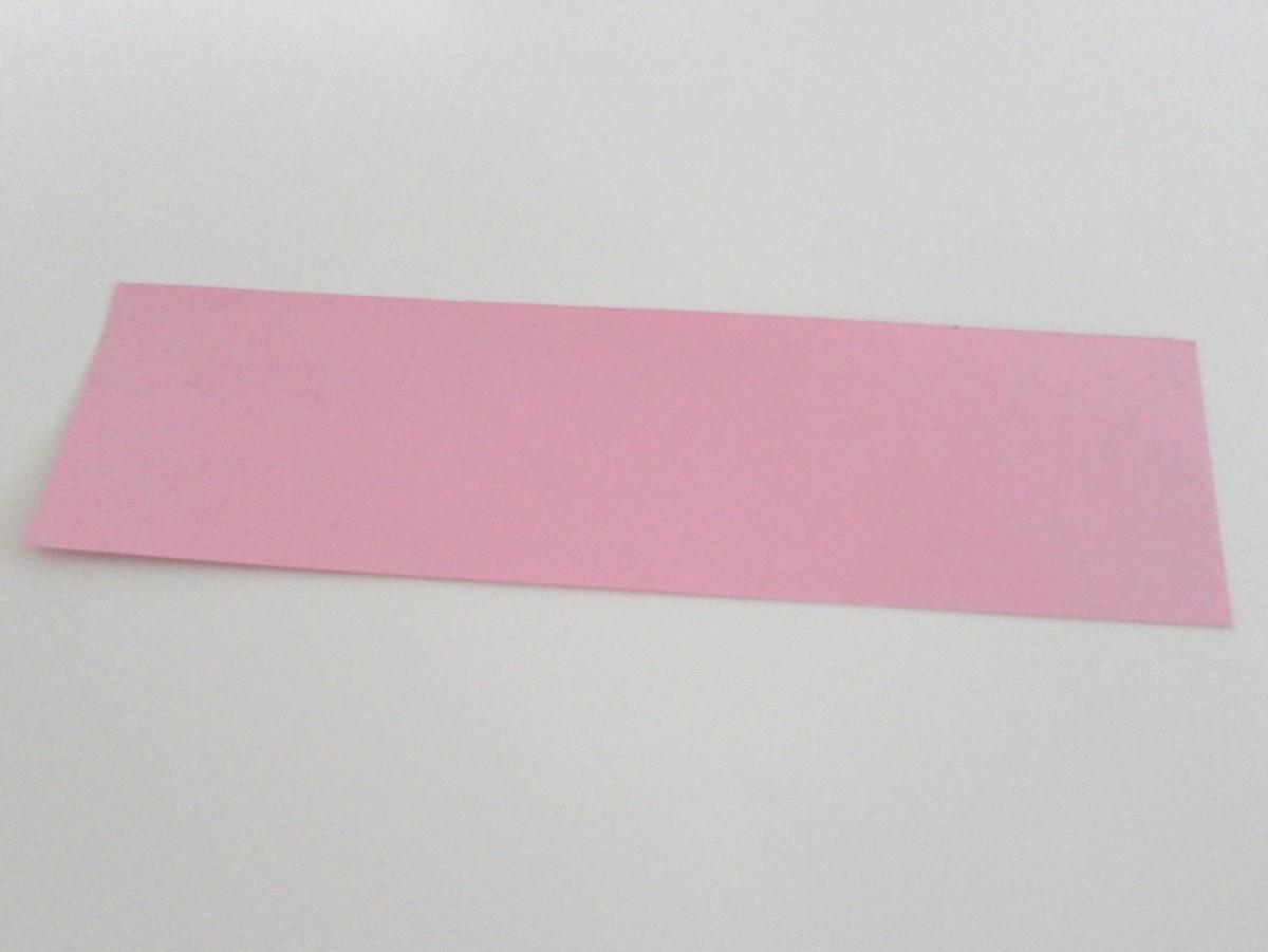 Take strip of paper measuring 10cm by 3cm.