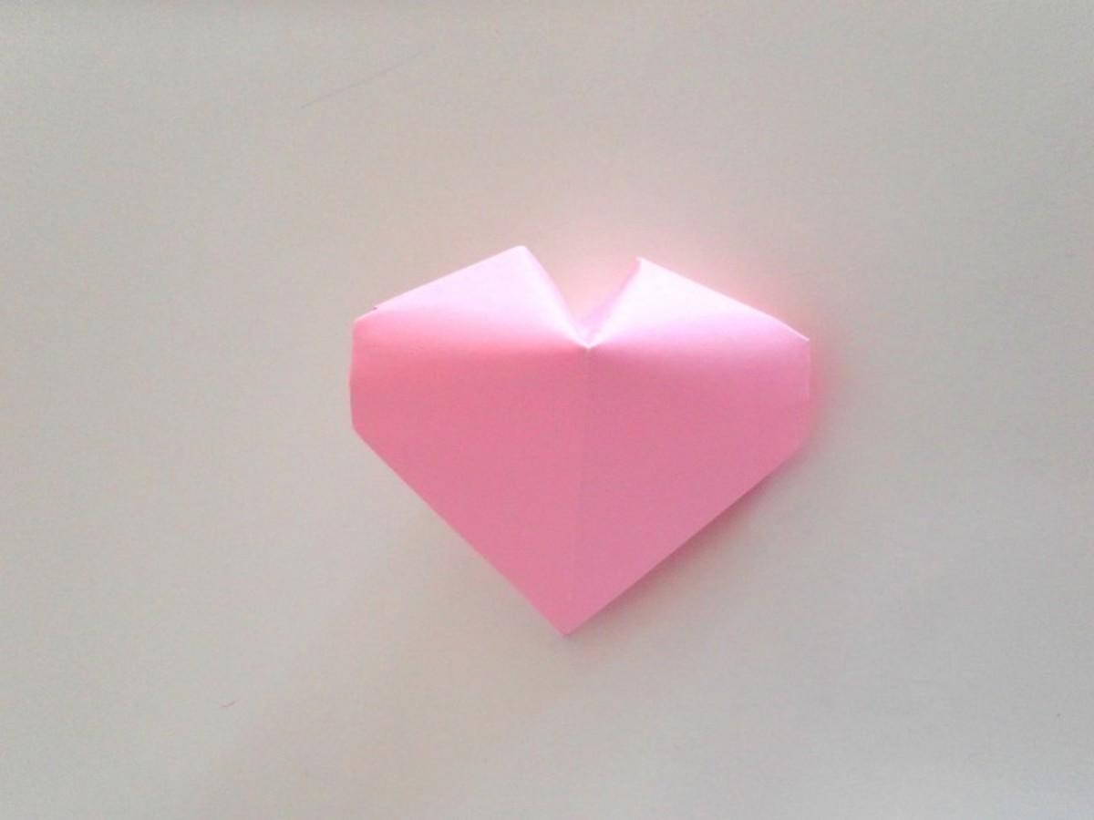 A 3D Origami Paper Heart!