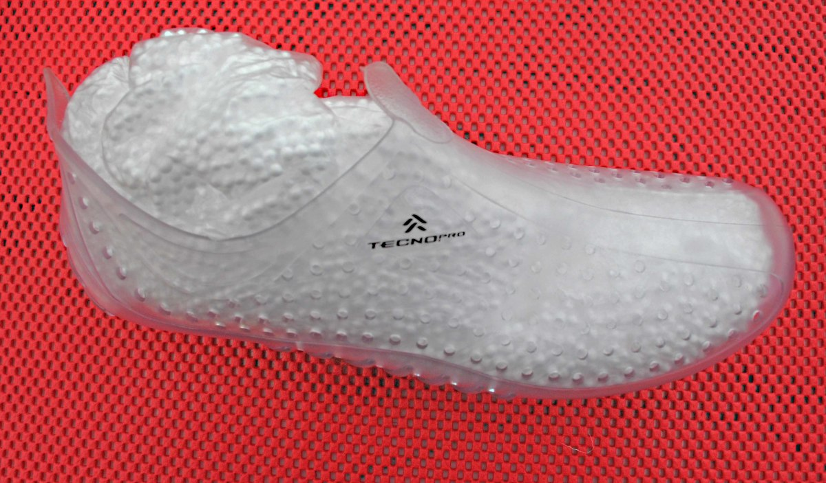 The Aqua shoe padded out with a few polystyrene balls
