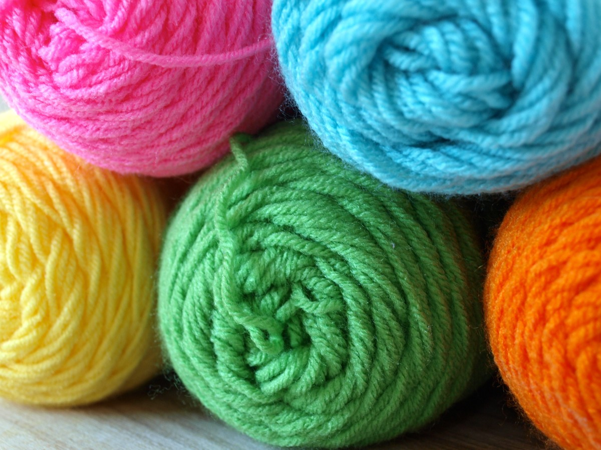 Who can resist creating something with brightly colored yarn?
