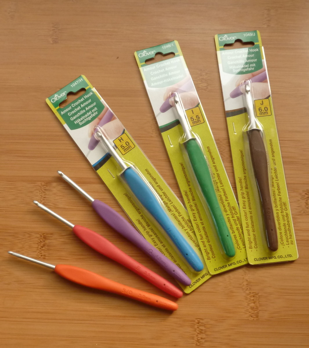 A set of clover amour crochet hooks makes a wonderful gift for someone who is new to crochet