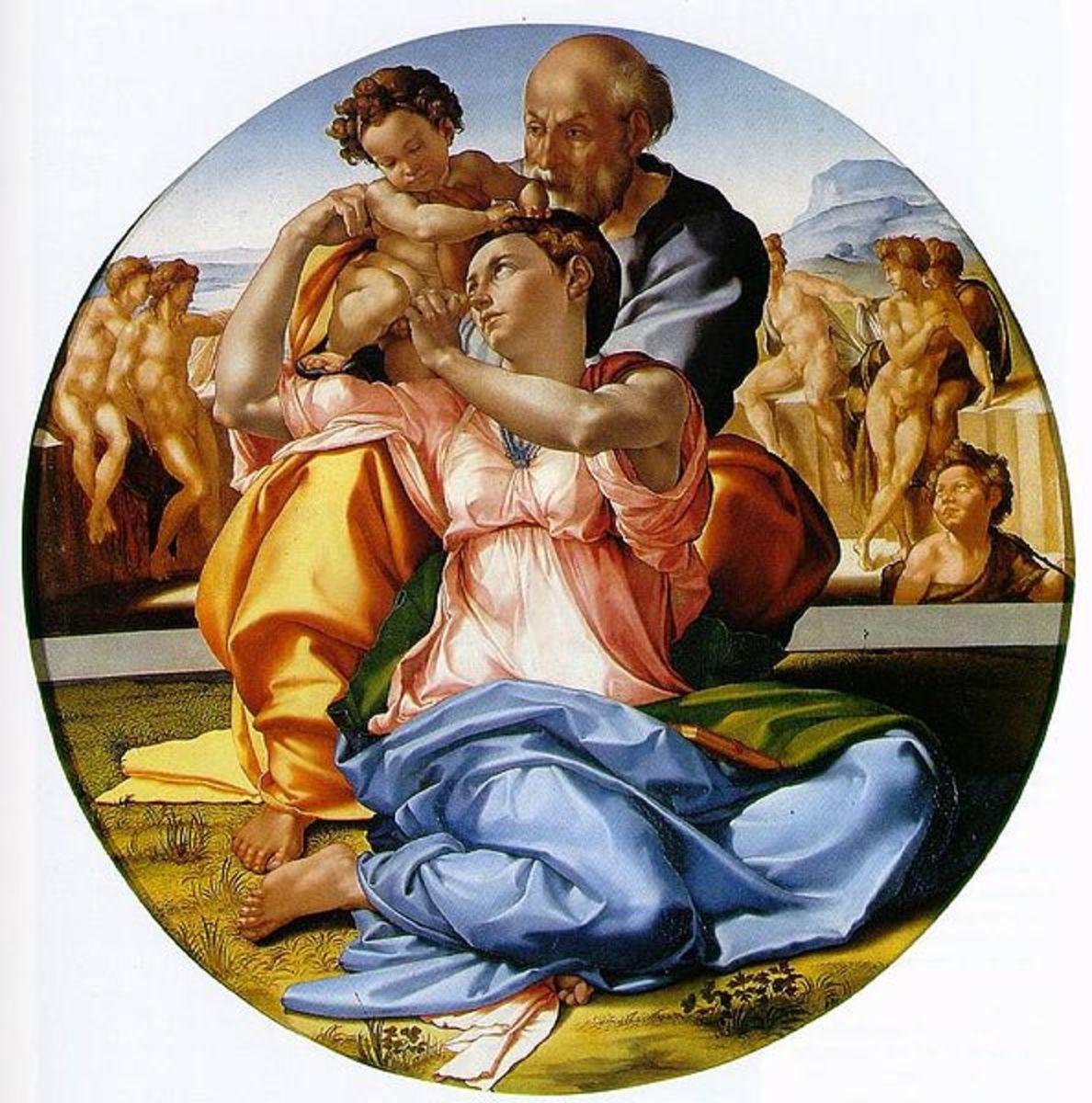 """""""Tondo Doni"""" by Michelangelo Buonarroti, circa 1506"""