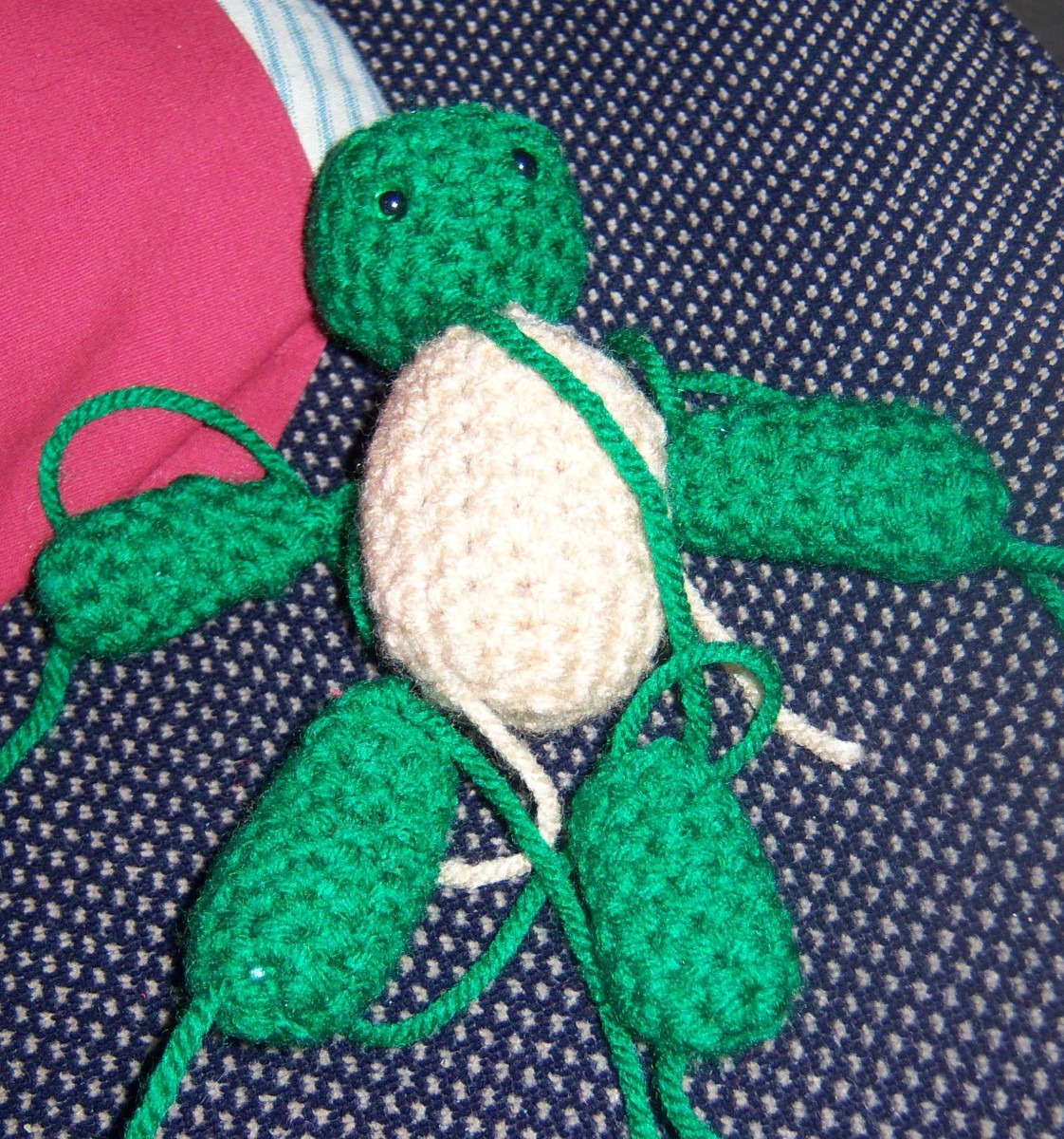 All this turtle needs is a shell. It could also probably need some sewing together.