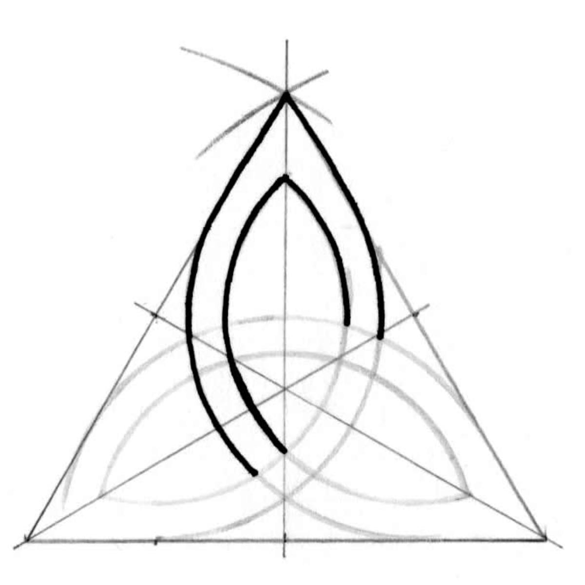 Triquetra tutorial step nine