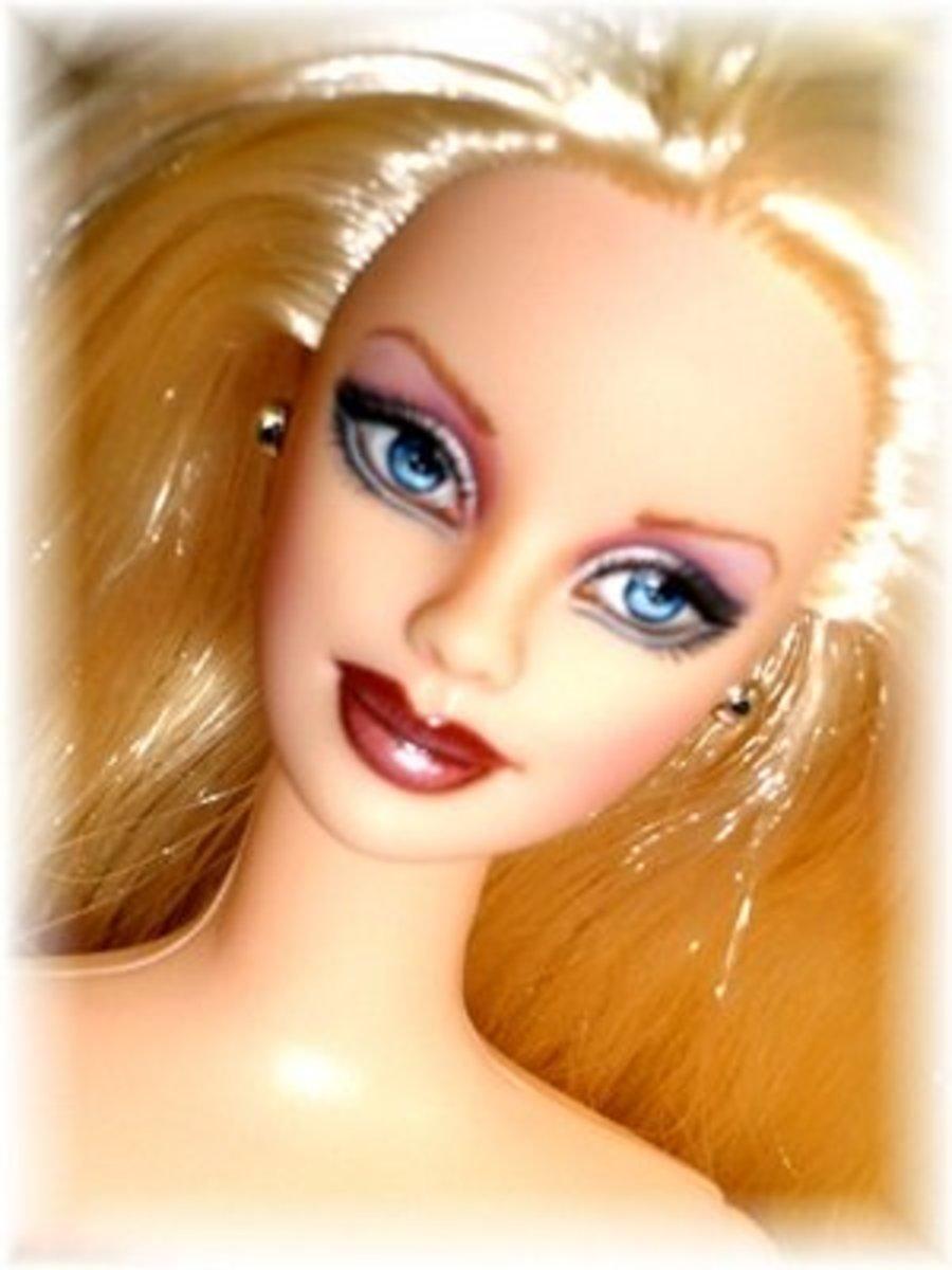 Repainted Barbie Doll