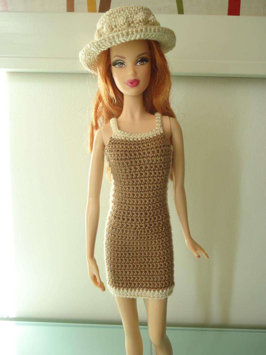 Barbie Brown Sheath Dress