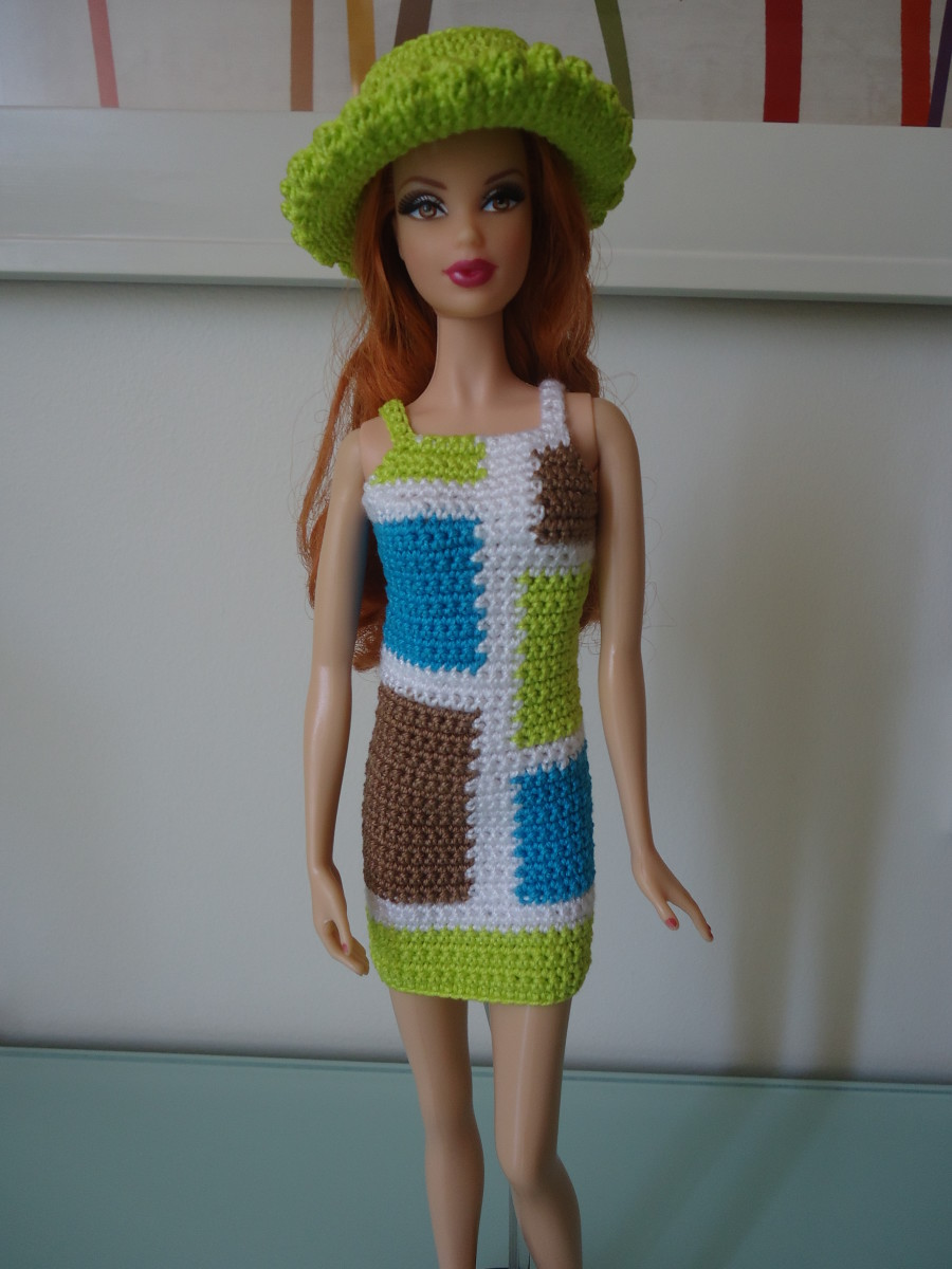 Barbie Colorblock Mod Sheath Dress