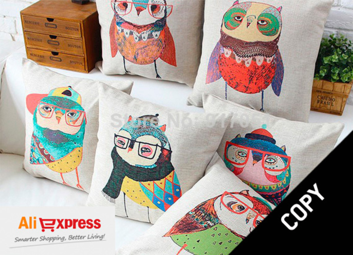 Art stolen by AliExpress and reproduced as cushions.