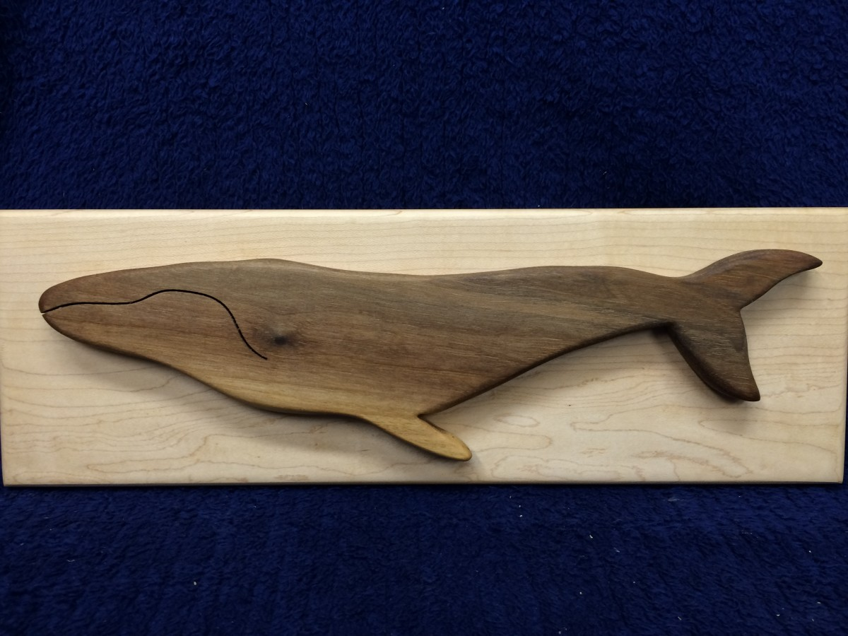 Humpback whale wall hanging