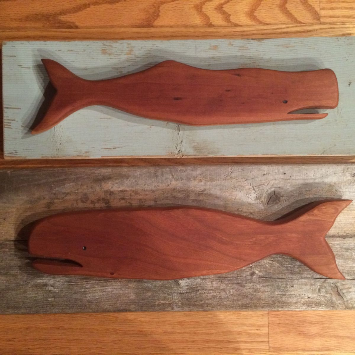 Wooden Whale Wall Sculpture
