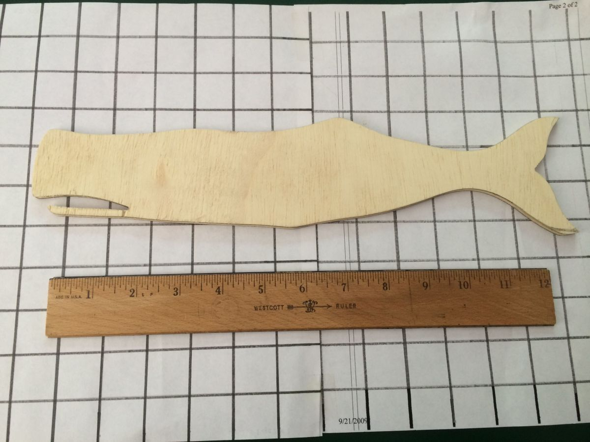 Whale Carving Template #1