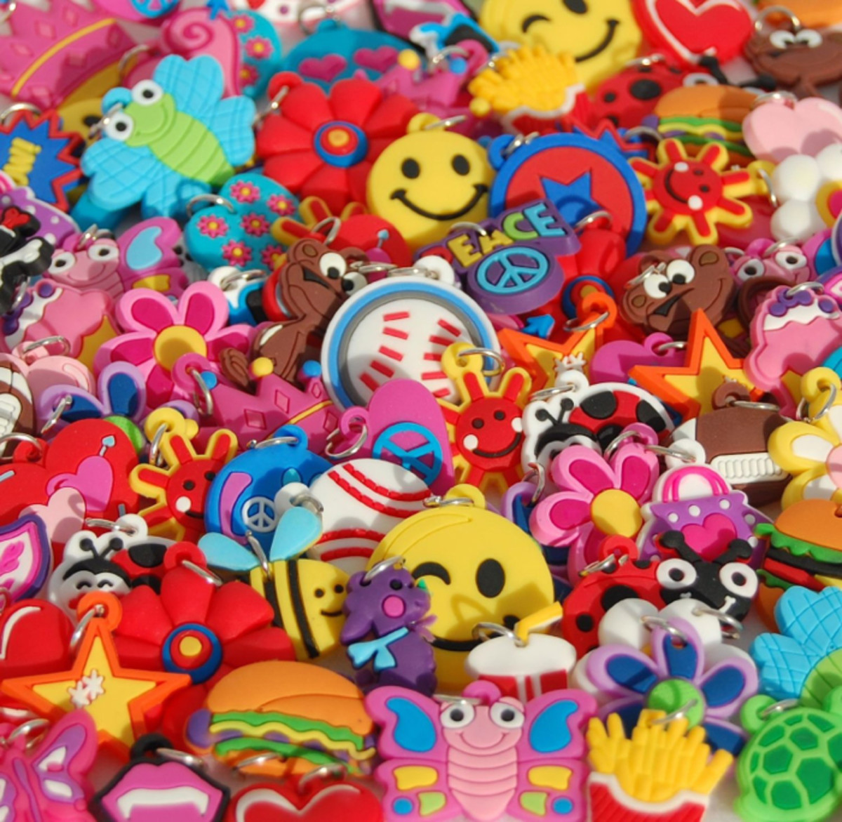Charms for loom band bracelets and jewelry