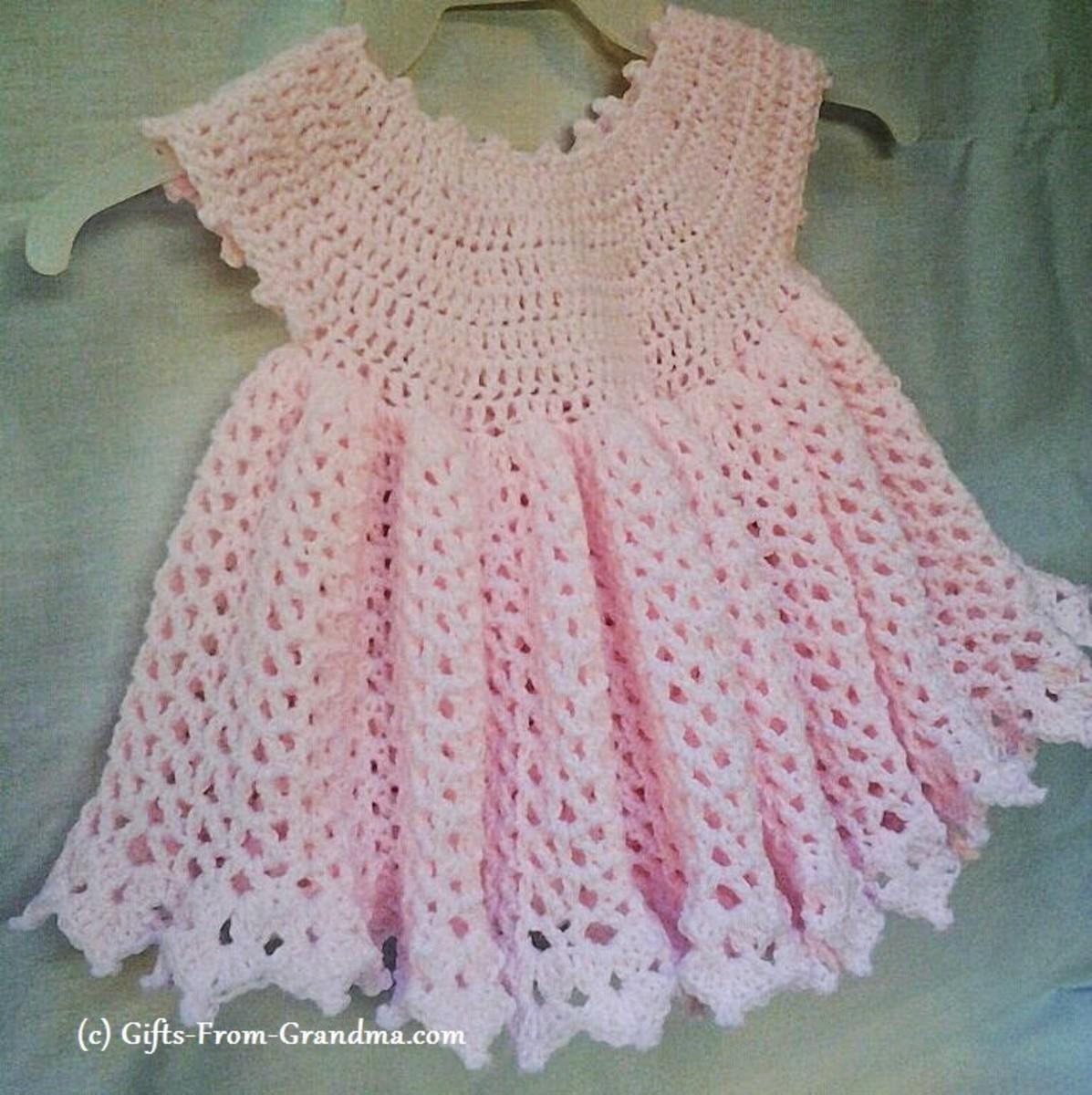 Free Crochet Patterns for Baby Dresses | FeltMagnet