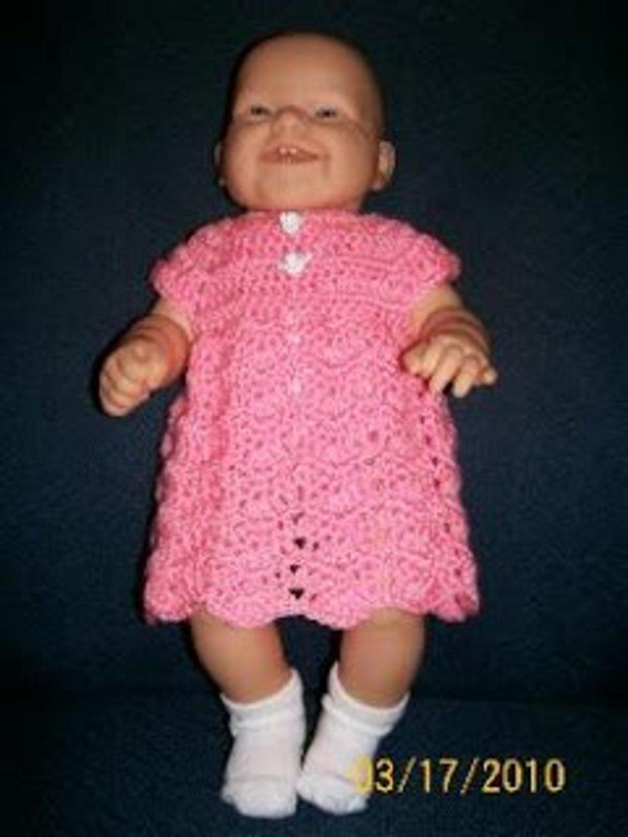 Crochet Chevron Baby Dress Pattern : Free Crochet Patterns for Baby Dresses