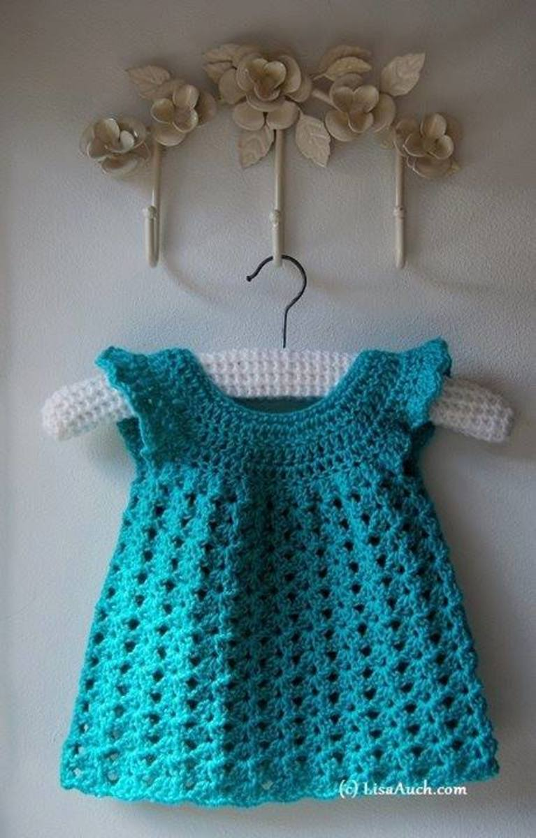 Free Crochet Patterns for Baby Dresses | FeltMagnet