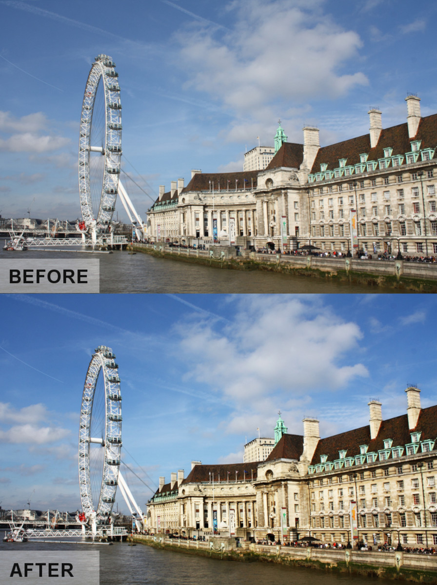 Overlay Layer Mode in GIMP 2.8 before and after
