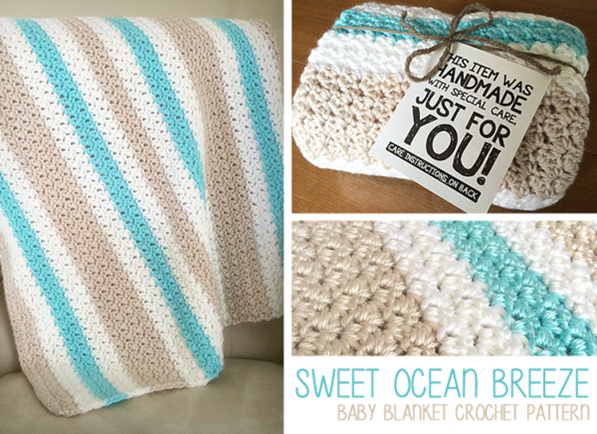 Sweet Ocean Breeze Baby Afghan