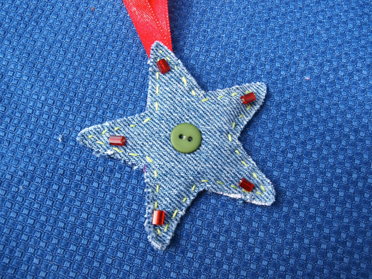 Whatever you want to call it, repurposed, recycled or upcycled denim makes a wonderful ornament.