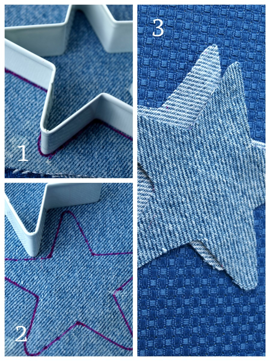 How to cut out the ornament shape.